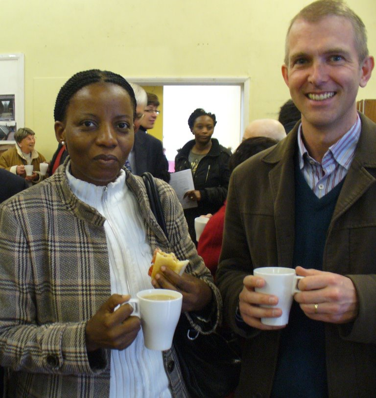Tom and Five Talents Uganda program Leader, Esther.