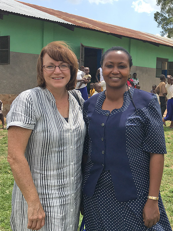 Five Talents Program Director Suzanne Middleton (left) is alongside World Concern's Program Leader in Aru, Irene Nyambura (right)