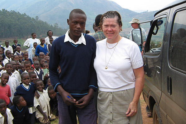 April Young in Uganda