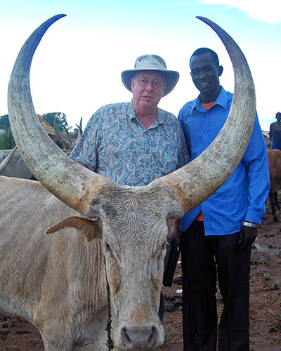 Jim Oakes with Rev. Thomas Anei in South Sudan