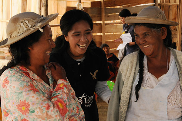 Five Talents Bolivia members enjoy sharing their stories.