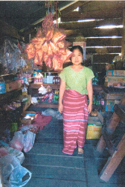A new village grocery store in Myanmar.