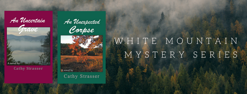 Cathy Strasser Author_White Mountains Mysteries Series header