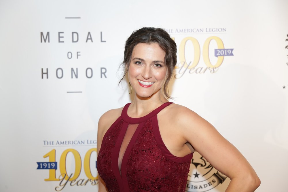 Shannon Corbeil on the red carpet for a special screening of Netflix's 'Medal of Honor.' Photo by David Tenenbaum.