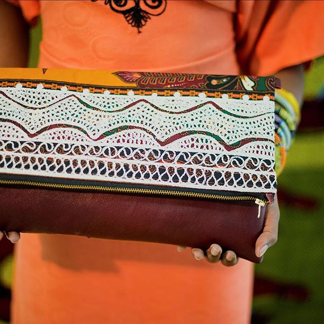 One of Each sources authentic African fabrics and combine them with leather and suede to make one-of-a-kind handbags, belts and bangles. The Bamako range, pictured here, is inspired by Mail embroidery dating back to 1910. This art is the manifestation of embroidery's special role in the Niger Delta Region. Fabrics are dyed by the women, but the intricate embroidery is the work of the men only. . . . Shop One of Each products on the AIA site. Free global shipping.