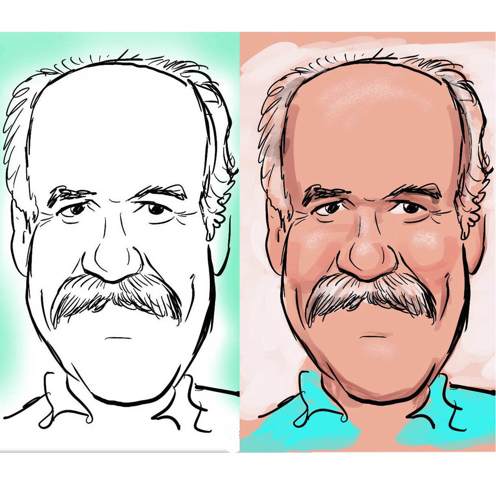 Live drawn digital. The left is created in 6 minutes, the right in 10 minutes.
