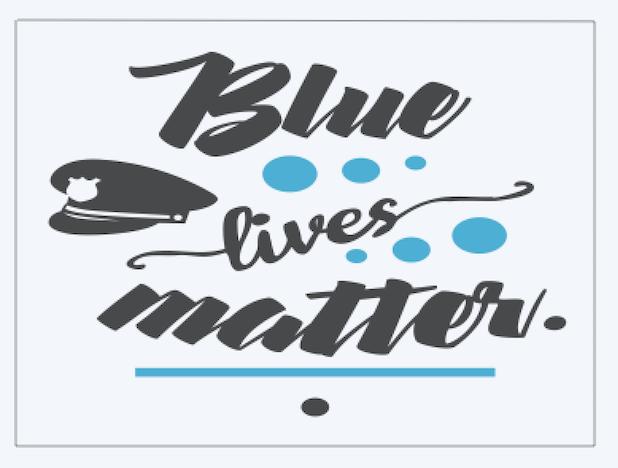 Copy of Blue lives matter