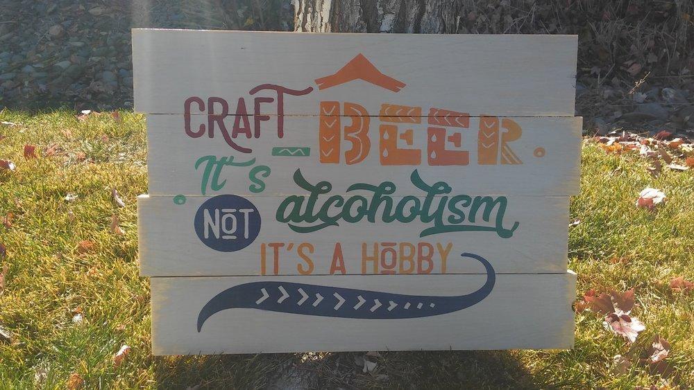 Craft Beer is not alcoholism..