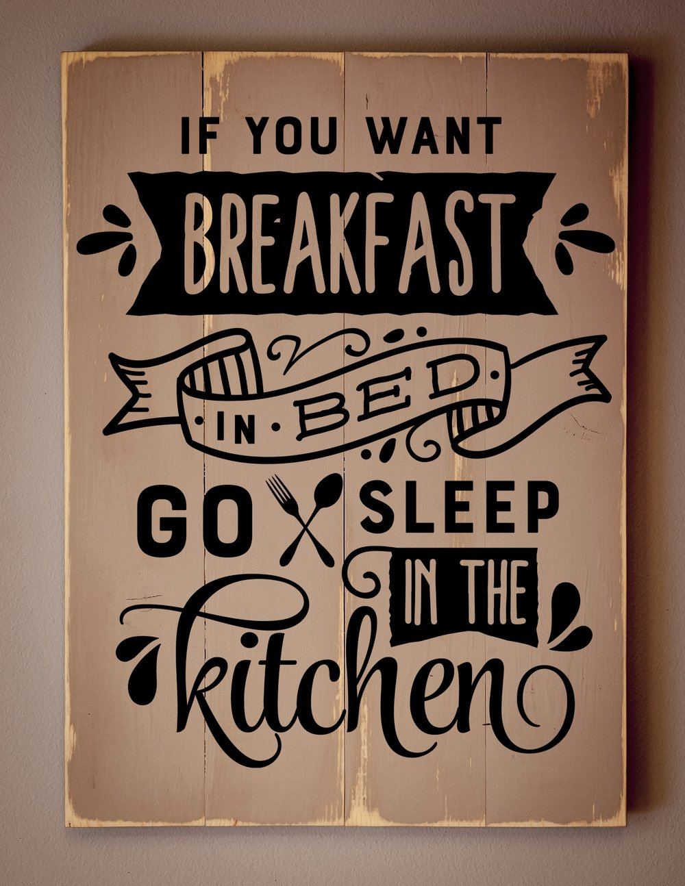 If you want Breakfast in bed..