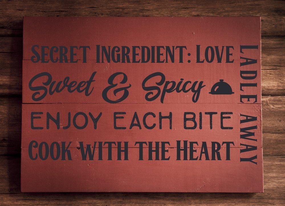 Secret ingredient Love..