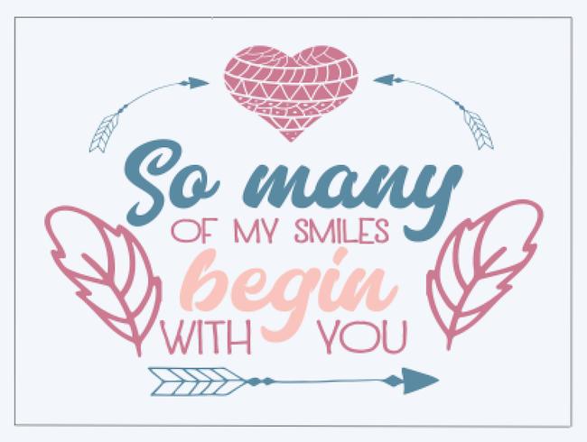 So many of my smiles begin..