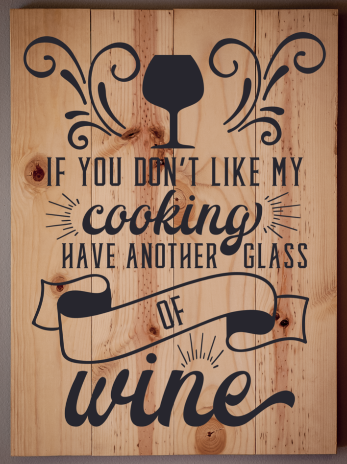 If you don't like my cooking..