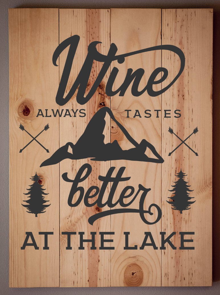 Wine is better at the Lake
