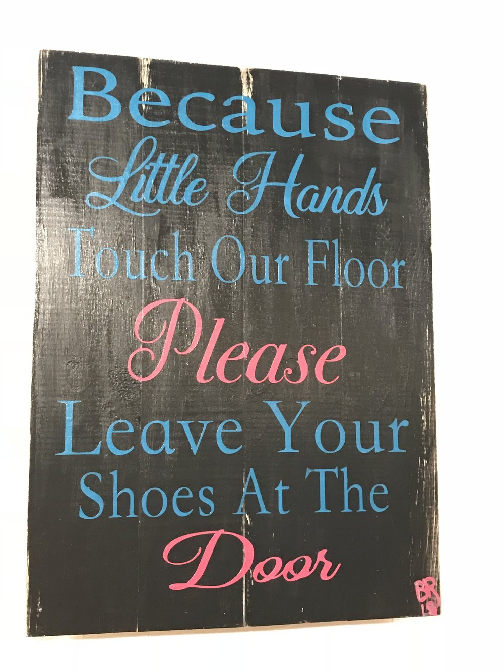 Because little hands touch our..