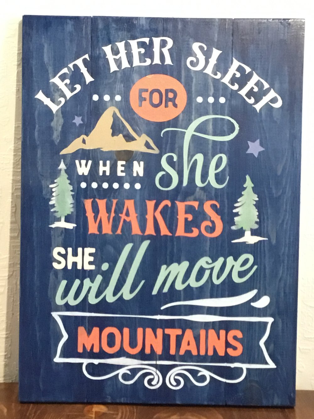 Let her sleep for when she..