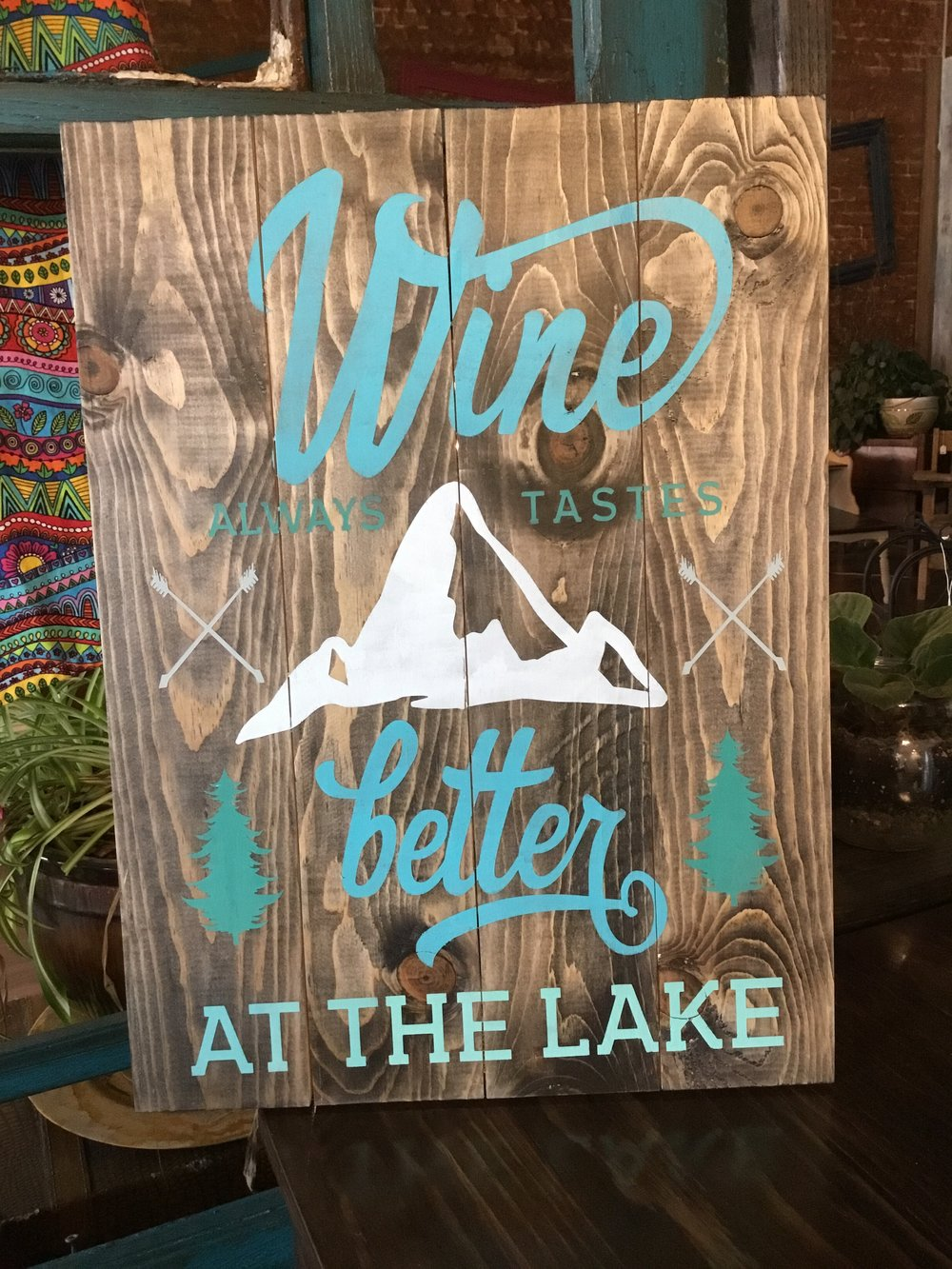 Wine always tastes better..lake