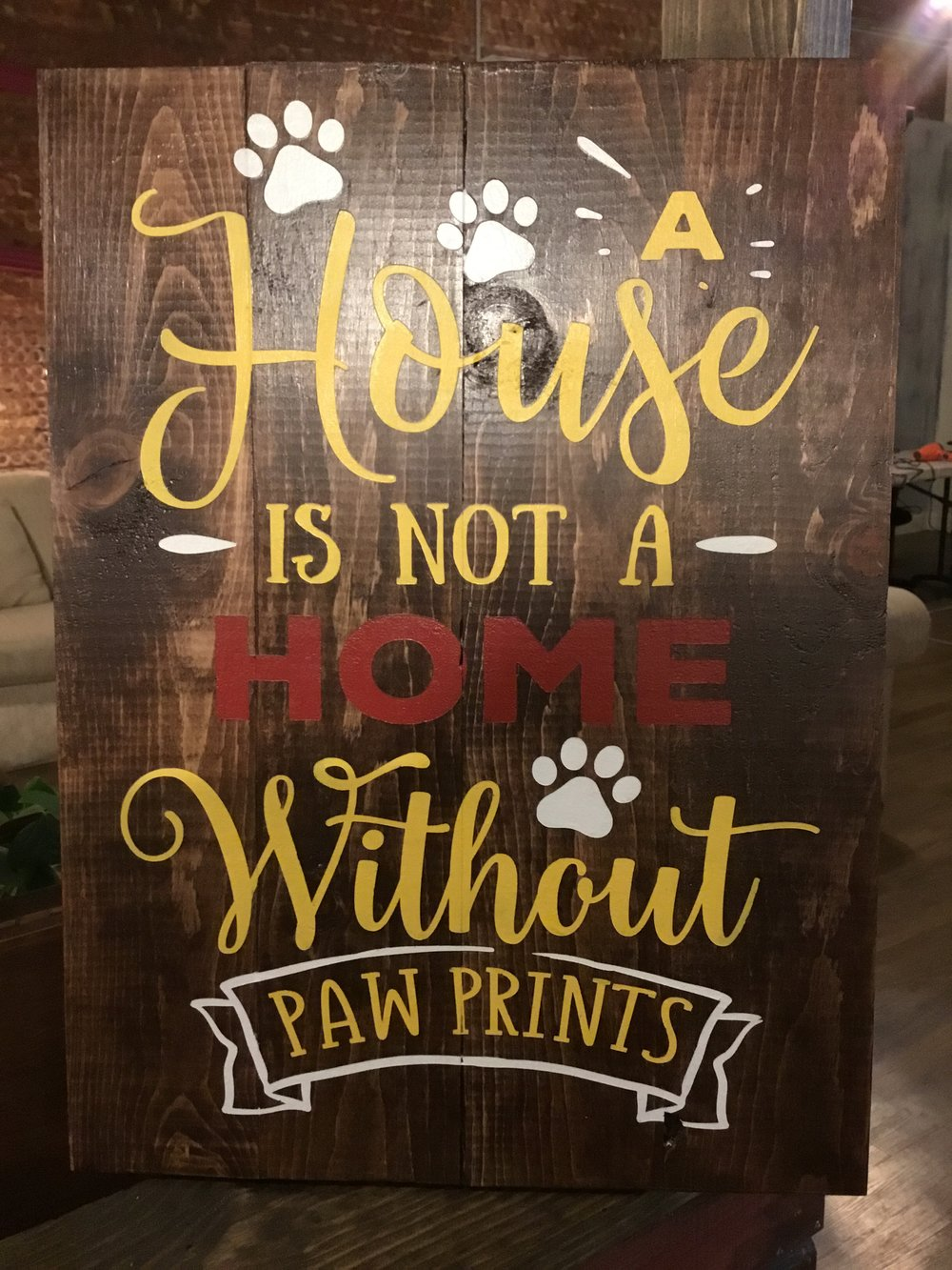 A house is not a home.. Paw Prints