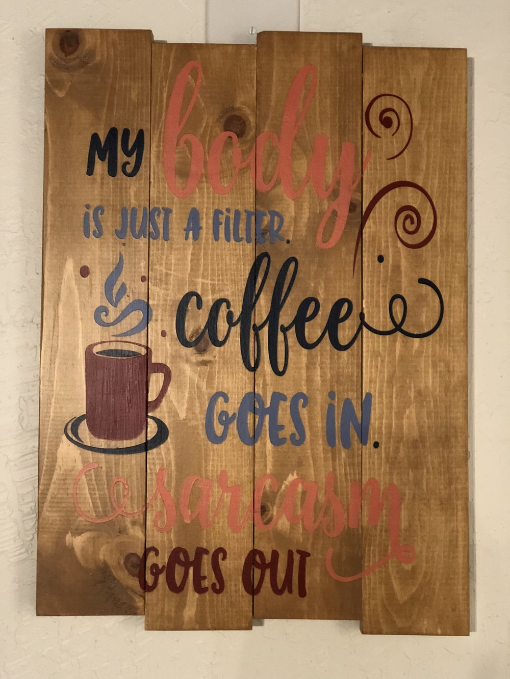 My body is a filter, coffee goes in..