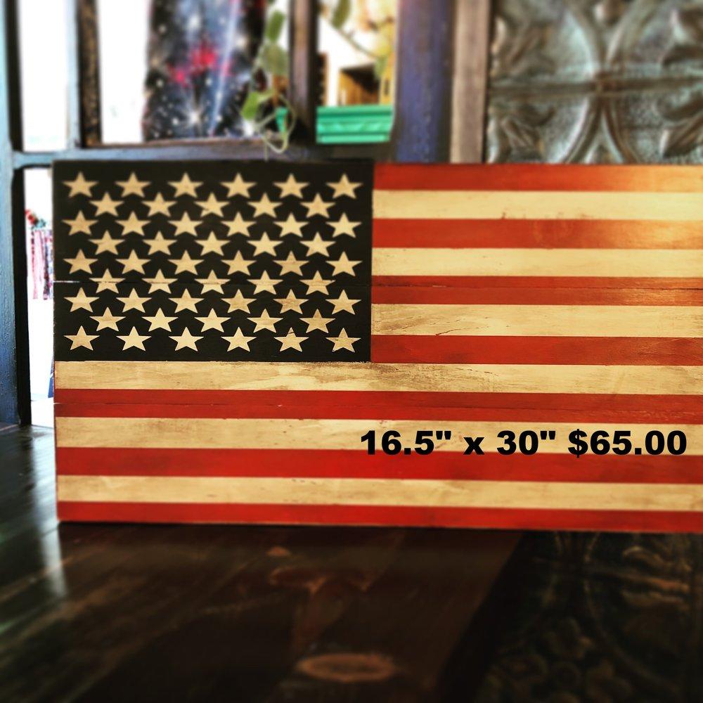 American Flag $65 16 inch x 30 inch