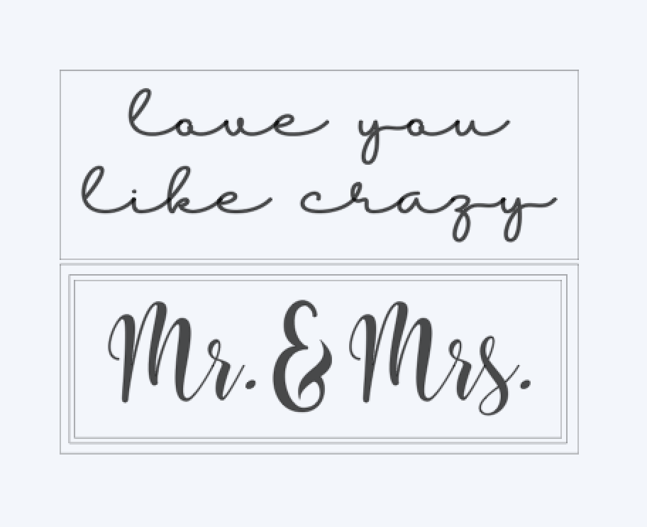 love you like crazy.. Mr. & Mrs...