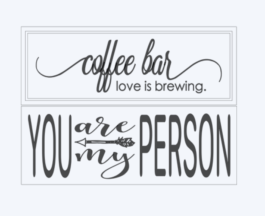coffee bar.. You are my Person..
