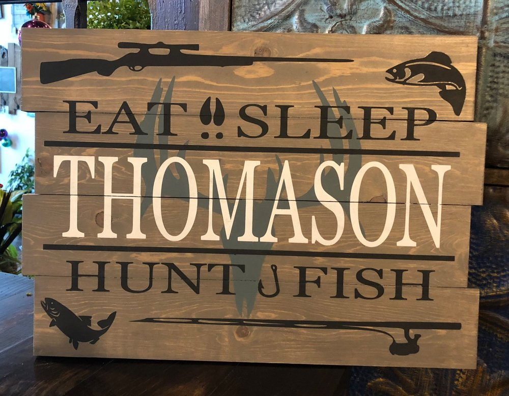 Hunt Fish Monogram