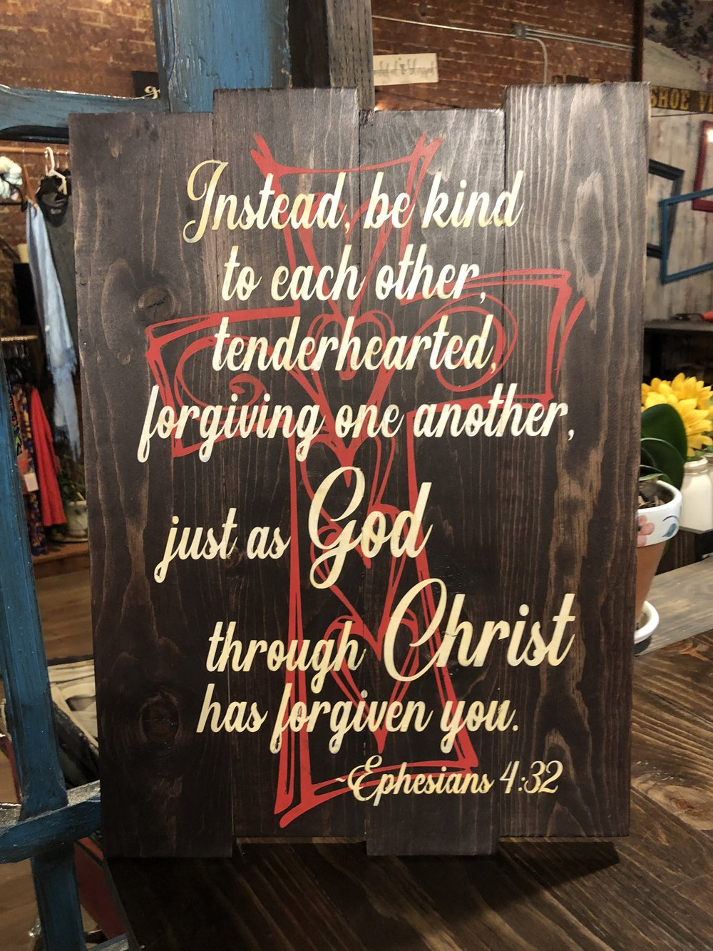 Instead be kind to one another, tenderhearted..