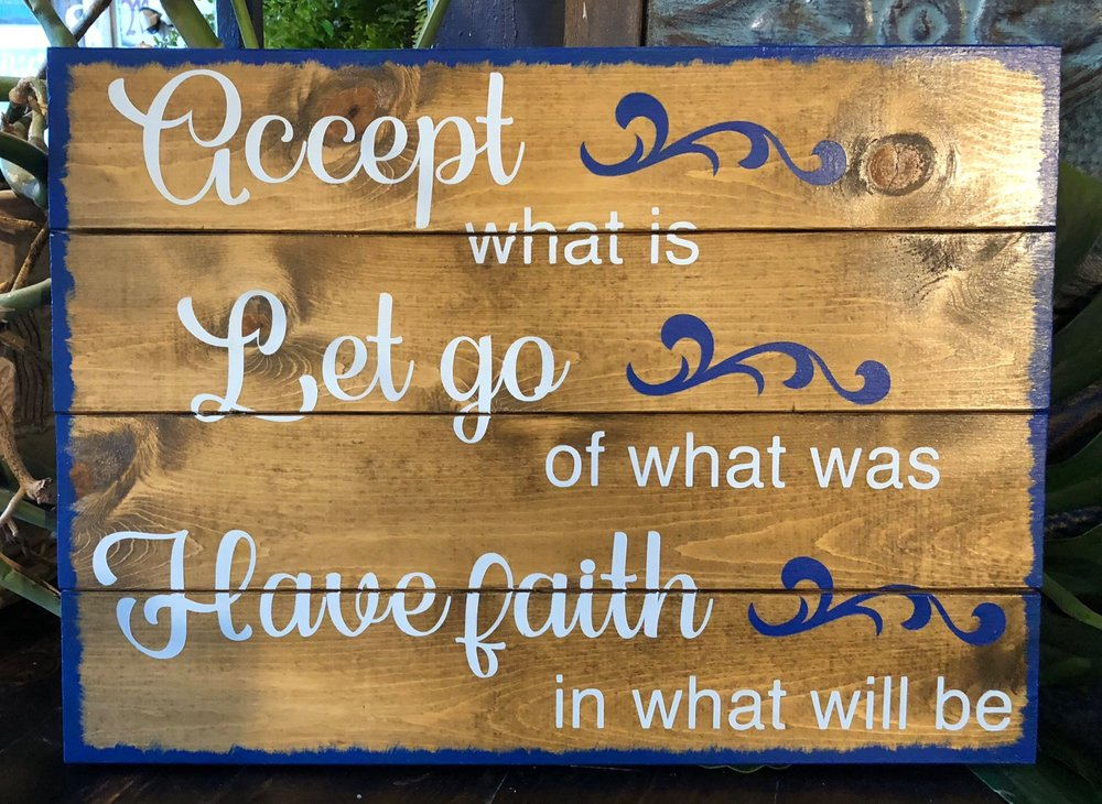 Accept what is..