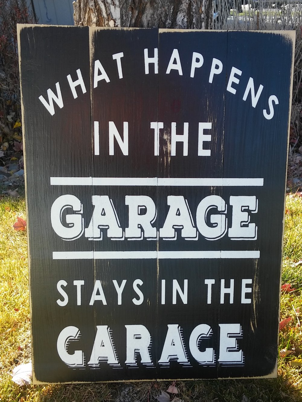 What happens in the garage(plain)..