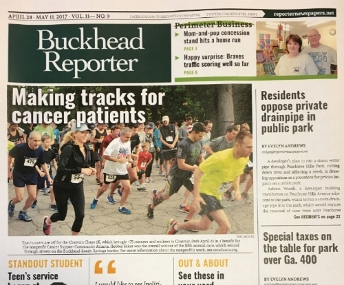 CSC Atlanta's Chastain Chase featured on the cover page of the Buckhead Reporter -
