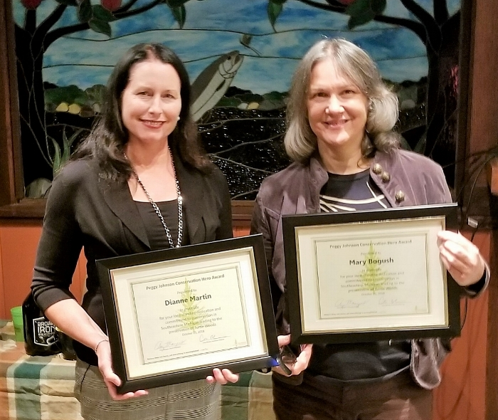 Dianne Martin and Mary Bogush - Peggy Johnson Conservation Hero Award Co-Recipients