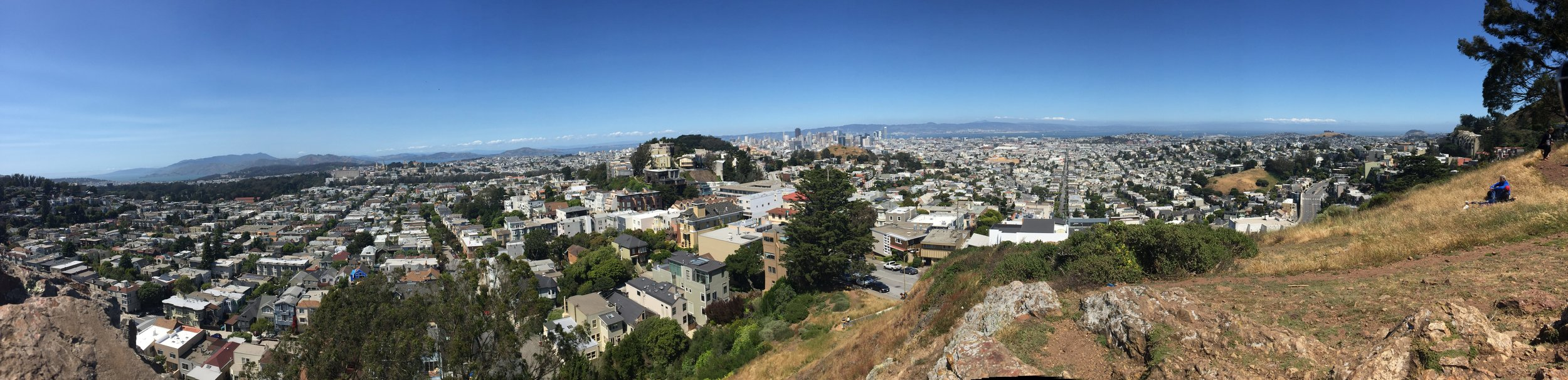 Panoramic View of Tank Hill in San Francisco