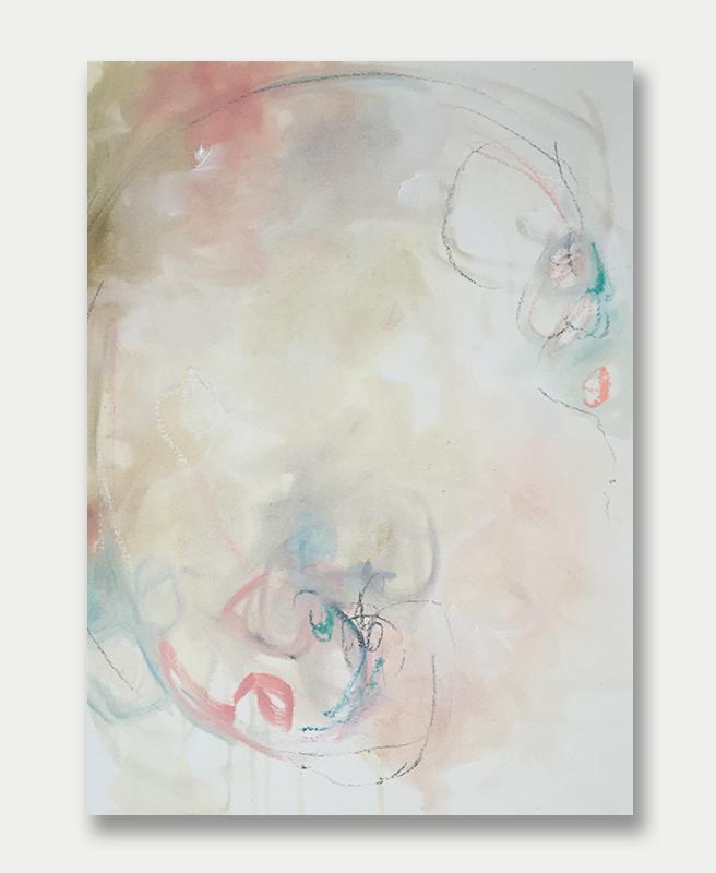 Smell the Roses - Abstract Art by Lauren Bolshakov