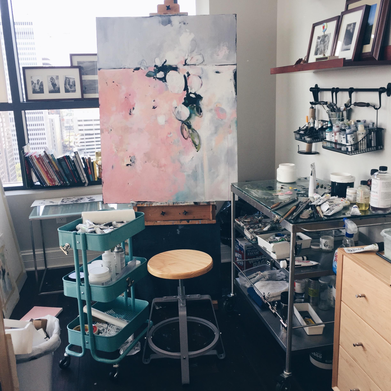 Painting in Progress - Lauren Bolshakov - Three Studios Blog