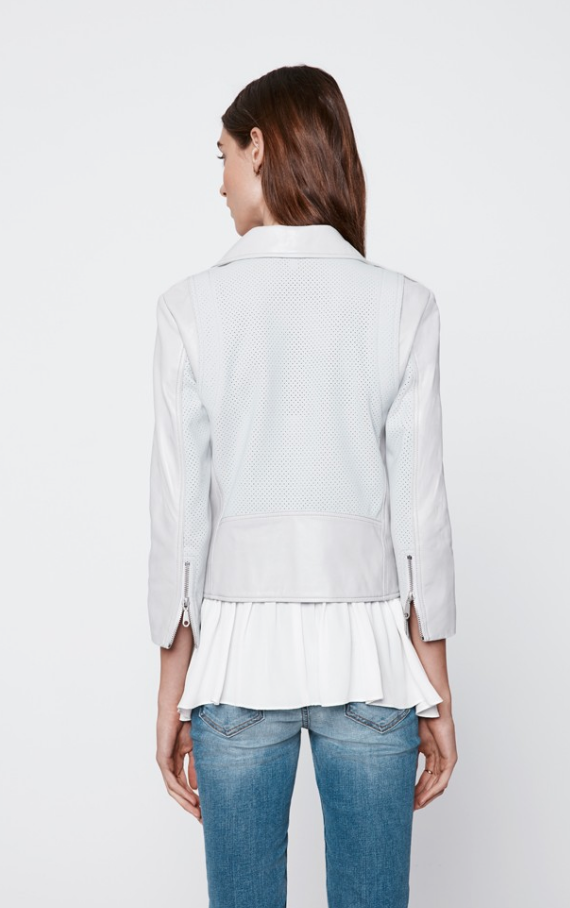 Rebecca Minkoff Perforated Wes Moto Leather Jacket