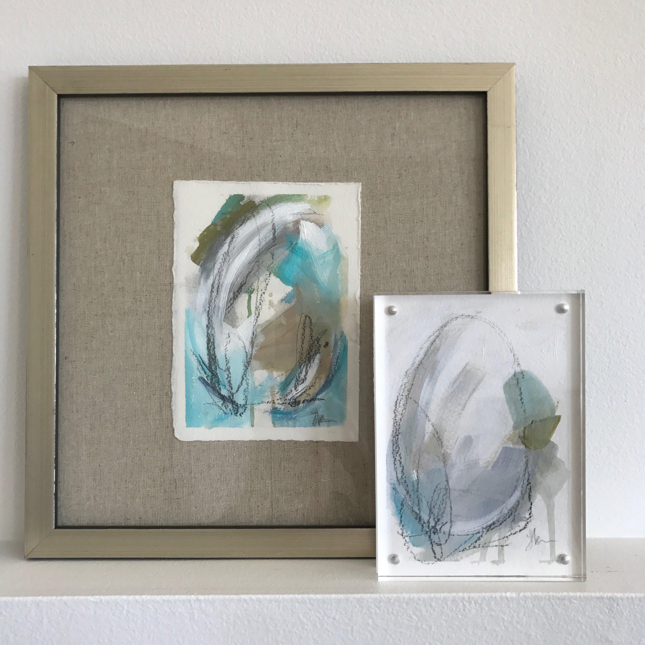 Framing options for paper artwork