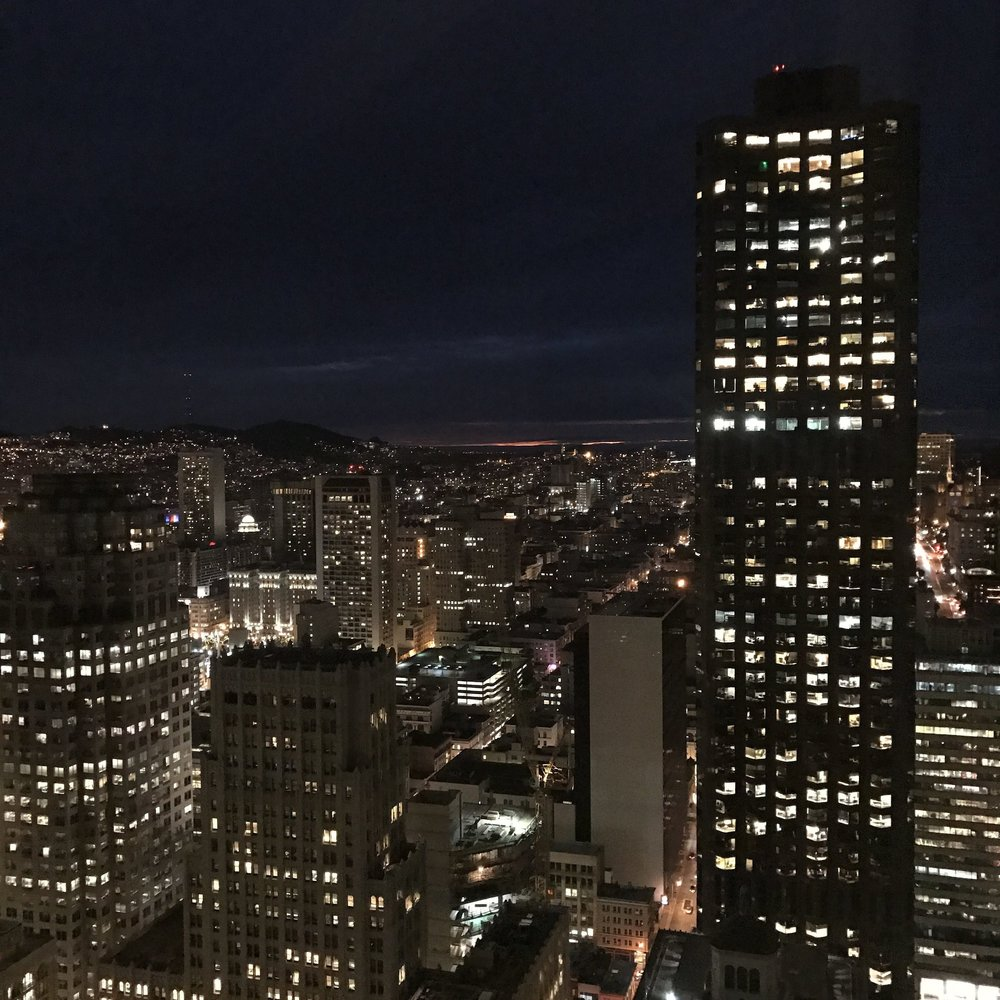 The Night View from Lowes Regency San Francisco