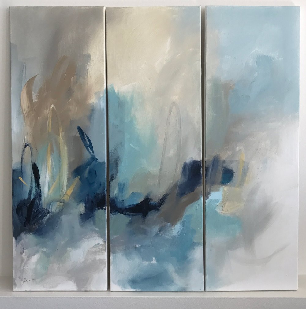 Bonheur de Vivre 24x24 triptych Acrylic on Canvas.jpg