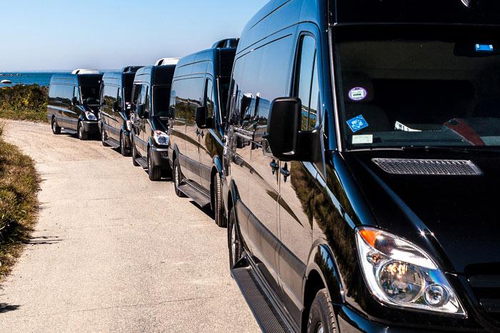 Line of vehicles