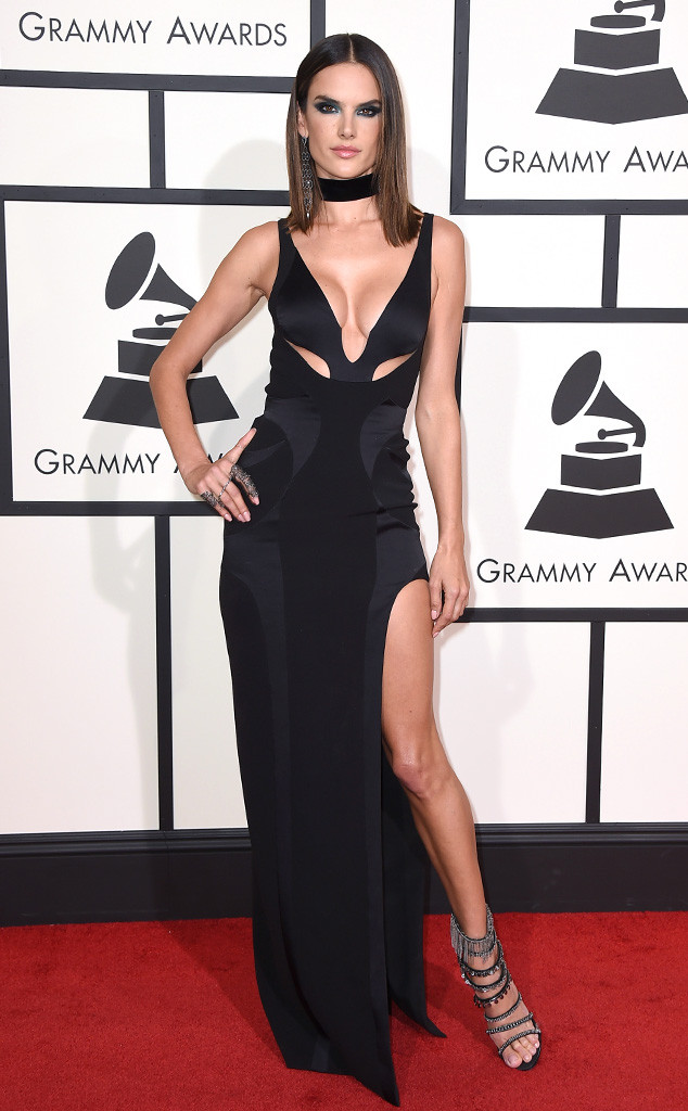 Alessandra Ambrosio in Versace - Grammys 2016 Red Carpet Winners And Losers