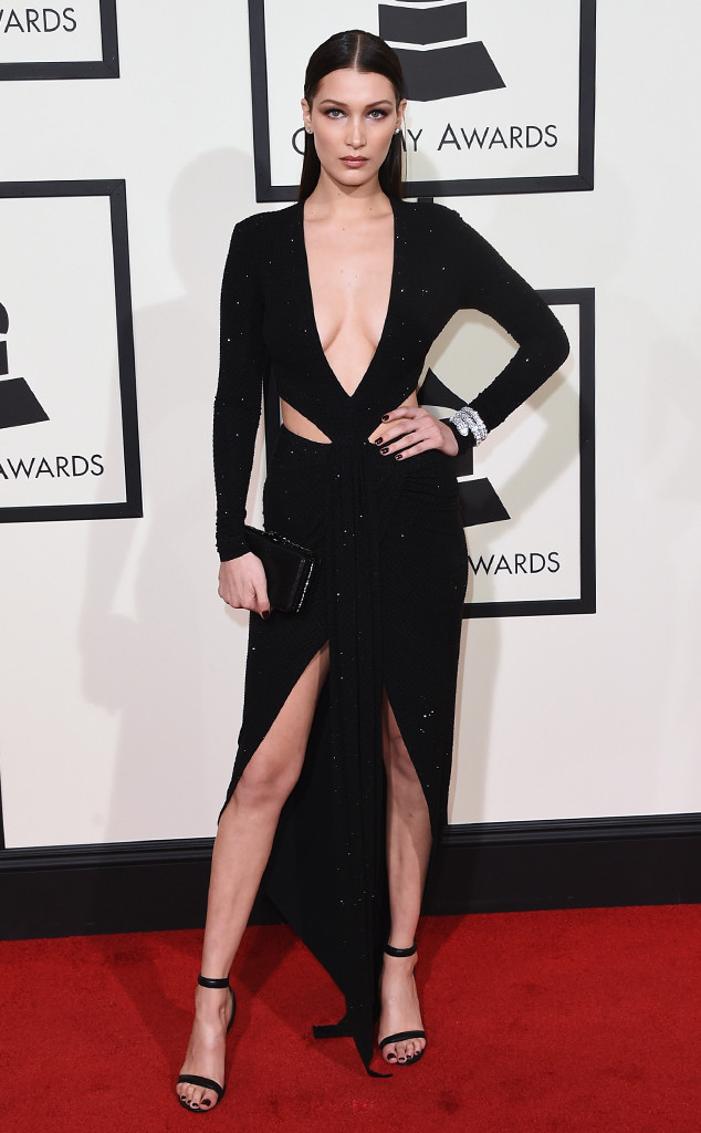 Bella Hadid in Alexandre Vauthier Paris - Grammys 2016 Red Carpet Winners And Losers