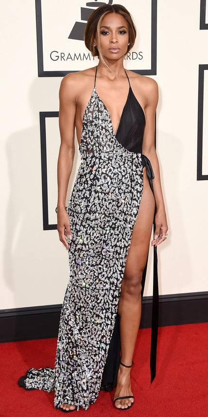 Ciara in Alexandre Vauthier Haute Couture - Grammys 2016 Red Carpet Winners And Losers