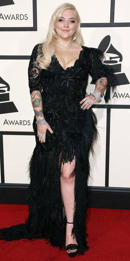 Elle King in Christian Siriano - Grammys 2016 Red Carpet Winners And Losers