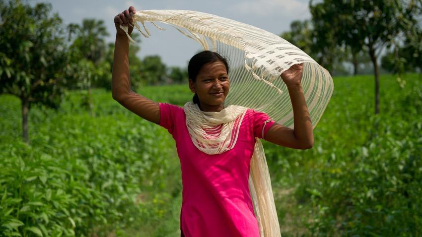 Women in a field