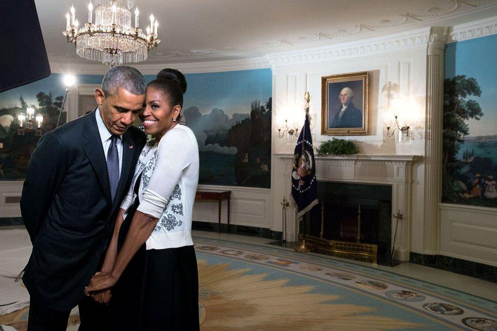 Obamas in white house