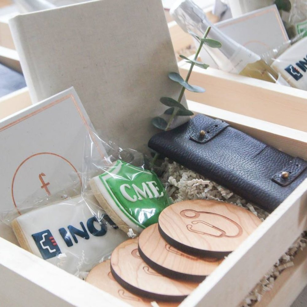 Custom INOVA Healthcare gift set created by Marigold & Grey