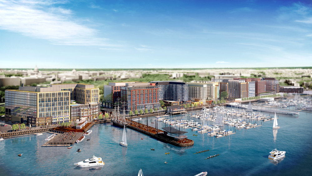 Washington, DC InterContinental Wharf-Rendering-Aerial-View-at-395