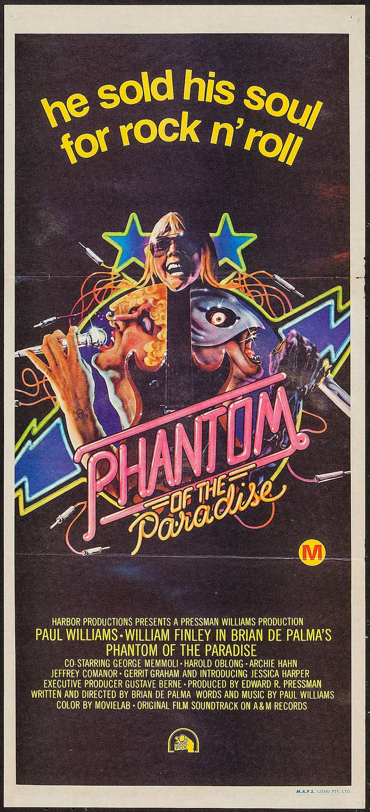 PHANTOM OF THE PARADISE - Australian Poster by Anthony Goldschmidt and John Alvin.jpeg