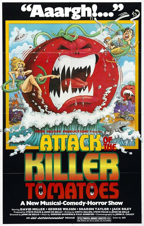 ATTACK OF THE KILLER TOMATOES - HORROR COMEDY1978