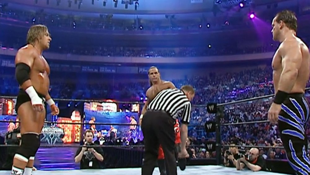 CHRIS BENOIT vs. SHAWN MICHAELS VS. CHRIS BENOIT - WRESTLEMANIA XX